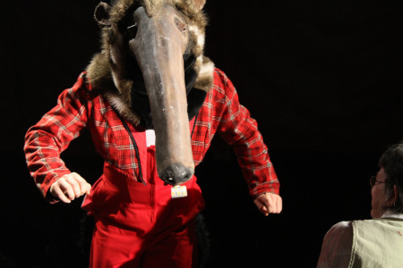 ZooZoo's anteater: starting Friday, a final fling. Photo: Imago Theatre