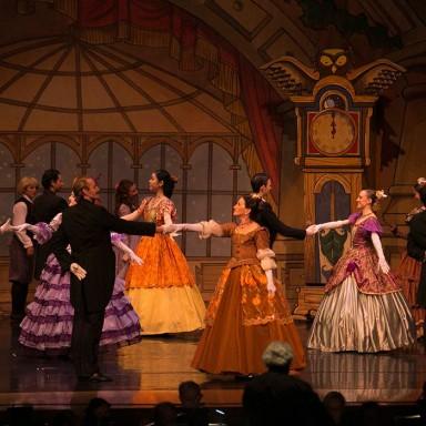 Loren Kessler dances downstage in the Eugene Ballet's 'The Nutcracker./Photo courtesy of Loren Kessler