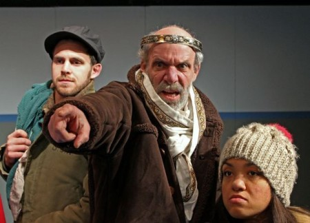 Ted Roisum, center, as Lear for Northwest Classical Theatre Company. Photo: Jason Maniccia