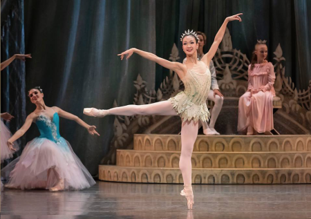 """Xuan Cheng as Dewdrop in Oregon Ballet Theatre's production of George Balanchine's """"The Nutcracker."""" It continues through Saturday at Keller Auditorium."""