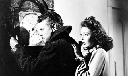 """Orson Welles and Loretta Young in """"The Stranger"""". Courtesy of the Northwest Film Center"""