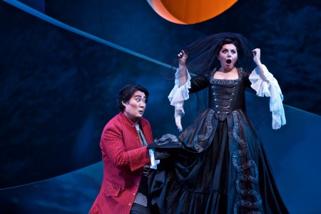 Shenyang (Figaro) and Nuccia Focile (Susanna) in 'The Marriage of Figaro.' Photo: Jacob Lucas.