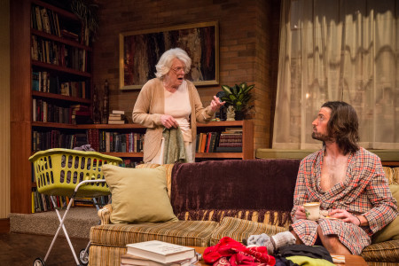 """Vana O'Brien and Joshua Weinstein in """"4000 Miles"""" at Artists Rep in May, one of the Big 100 of 2015. Photo: Owen Carey"""