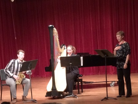 McCulley, Petak and Olson performed at Cascadia Composers' fall concert.