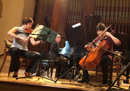 Voglar Belgique, Payne and Ives performed a pair of piano trios by Oregon composers.