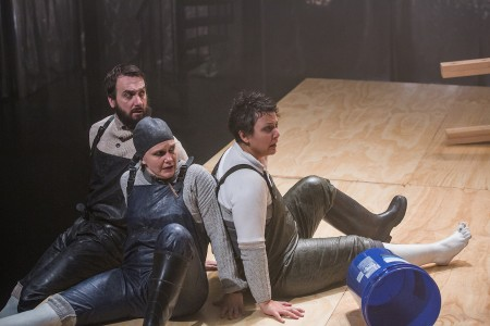 Jacob Coleman, Rebecca Lingafelter, and Cristi Miles all play Ahab in '[or, the whale]' for Portland Experimental Theatre Ensemble/Owen Carey