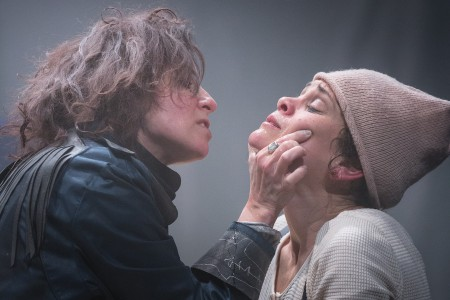 Maureen Porter's Ahab gives the business to Amber Whitehall's Pip in '[or, the whale]'/Owen Carey