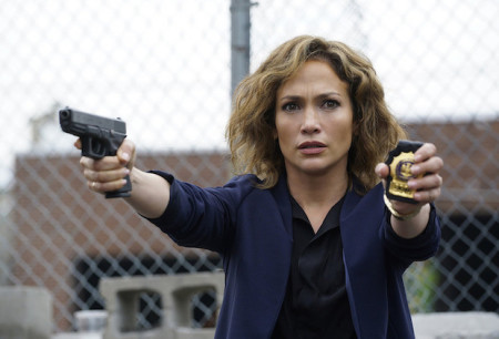 """Jennifer Lopez as Detective Harlee Santos  in """"Shades of Blue""""/Photo by: Peter Kramer/NBC)"""