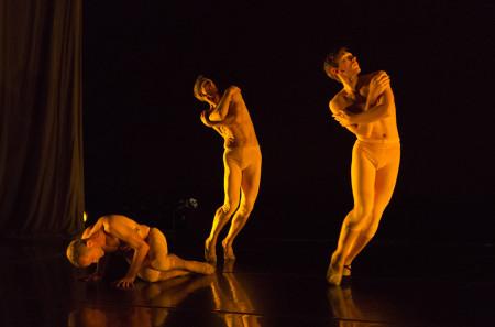 """From left: Skinner, Kirk, Luebbert in """"T(h)rilogy."""" Photo: Blaine Truitt Covert"""