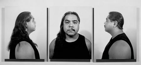 """""""Half Indian/Half Mexican,"""" gelatin silver prints, 1991."""