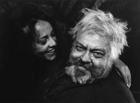 """Jeanne Moreau as Doll Tearsheet and Orson Welles as Falstaff in """"Chimes at Midnight"""""""