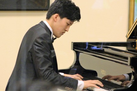 Bolai Cao performed at Portland Piano International. Photo: Rich Brase.