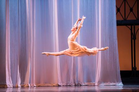 Ansa Deguchi, flying high as Juliet in Canfield's choreography. Photo: Jingzi Zhao