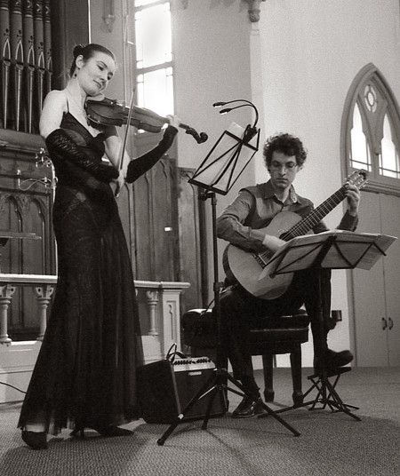 Lyrical Strings Duo plays CD release shows in Portland and Beaverton.