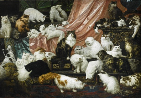 Carl Kahler (Austrian, 1855–1906), My Wife's Lovers, 1891, Oil on canvas. Collection of John and Heather Mozart