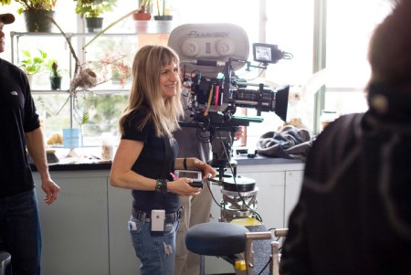 "Director Catherine Hardwicke, the guest of honor at this year's Portland Oregon Women's FIlm Festival, on the set of ""Twilight."""