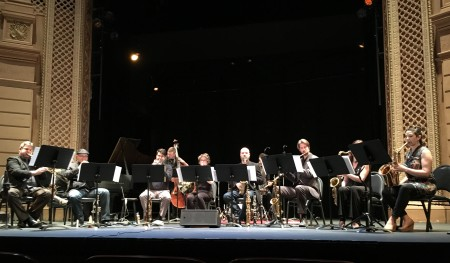 Portland Jazz Composers Ensemble performed Oregon Stories at Astoria's Liberty Theatre.