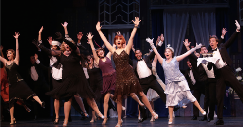 """Outstanding lead female actor Claire Avakian and company in best-production nominee """"Thoroughly Modern Millie"""" at Broadway Rose. Photo: Craig Mitchelldyer"""