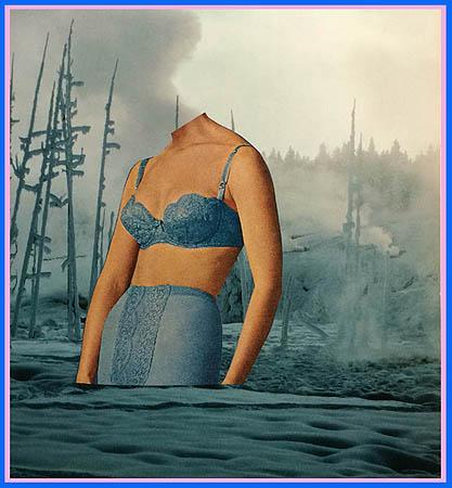 """Eva Lake, """"Torso No. 24,"""" 2015, collage, 10 x 9 inches. Augen Gallery."""