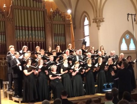 David DeLyser led Choral Arts Ensemble at Portland's Old Church Concert Hall.