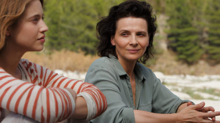 "Lou de Laage and Juliette Binoche star in ""L'Attesa."""