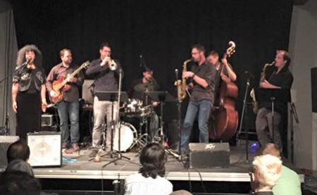 Holland Andews with Portland Jazz Composers Ensemble.
