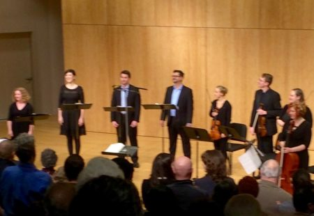 The Ensemble earns a well-deserved standing ovation at the conclusion of its Arvo Part concert.