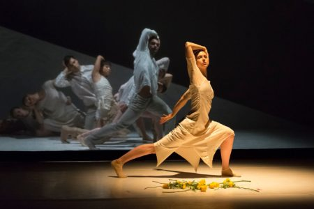 """A moment in Northwest Dance Project's """"Woolf Papers,"""" choreographed by Sarah Slipper/Photo by Blaine Covert"""
