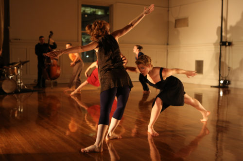 """There Mathern's """"Gather: a dance about convergence,"""" performed in 2012 in Conduit's original home in the Pythian Building. Photo: Gordon Wilson"""