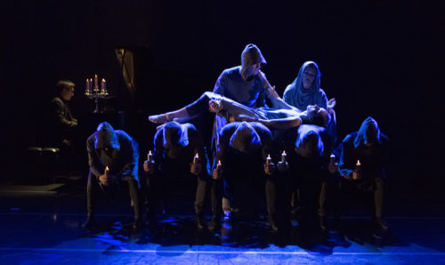 A dark and gloomy ending: Juliet in the tomb. Photo: Blaine Truitt Covert