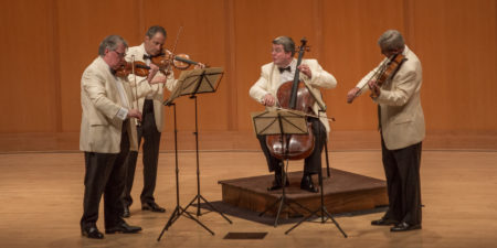 The Emerson String Quartet at Chamber Music Northwest in 2015/Photo by Tom Emerson