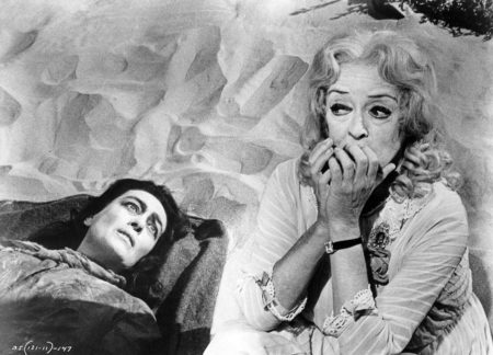 "Joan Crawford and Bette Davis in ""What Ever Happened to Baby Jane?"""