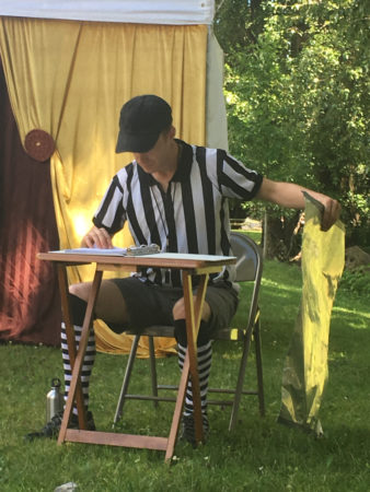 Andrew Bray, prompter and referee. Photo: Christa Morletti McIntyre