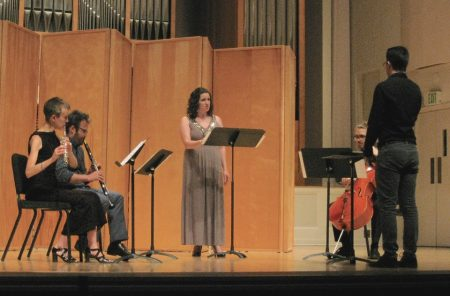 """My House Is Ancient"" by composer/conductor Daniel Daly performed at the 2016 Composers Symposium by guest artists Molly Barth (flute), James Shields (clarinet), Esteli Gomez (soprano) and composer/performer Ramsey Sadak (cello)."