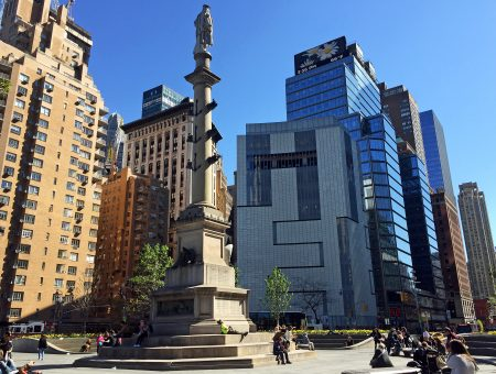 The Allied Works-designed renovation of the Museum of Arts & Design on Columbus Circle (right) in New York/Photo by Brian Libby