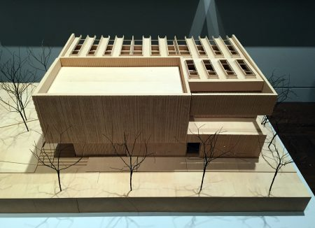 """Model of the Clyfford Still museum in Denver, part of """"Case Work""""/Photo by Brian Libby"""