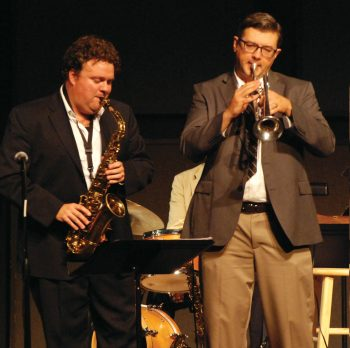 Jesse Cloninger and Tim Clarke play at OFAM.