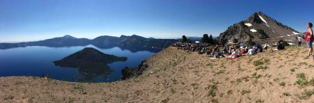 The Britt Orchestra at Crater Lake (Jean Shirk)