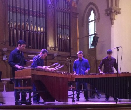 Portland Percussion Group performed at Portland's Old Church.