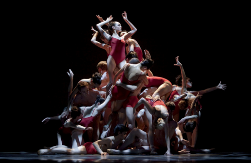 "The Human Monolith in Christopher Stowell's ""The Rite of Spring"" at Oregon Ballet Theatre: all together, limbs akimbo. Photo: Blaine Truitt Covert"