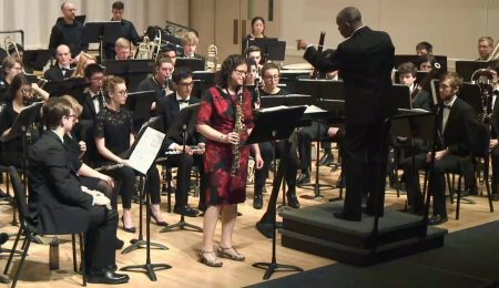 Live from Beall Hall: Saxophonist Idit Shner with the Oregon Wind Ensemble, Rodney Dorsey conducting. May 9, 2016,