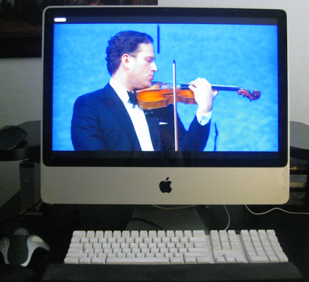 Desktop venue: Live from Russia, violinist Nikolaj Znaider and the St. Petersburg Orchestra. Photo: mediciTV