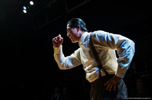 "Ryun Yu as Gordon Hirabayashi in ""Hold These Truths."" Photo: Patrick Weishampel/blankeye.tv."