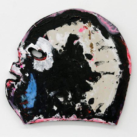 """Victor Maldonado, Lucha Mask II, acrylic on wood, 10.5 by 11.5"""", 2016/Courtesy of Froelick Gallery"""