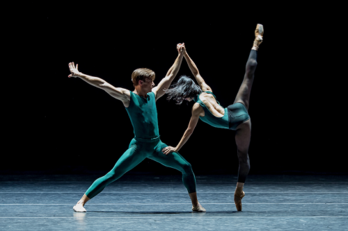 """Peter Franc and Xuan Cheng in """"In the Middle, Somewhat Elevated."""" Photo: Yi Yin"""