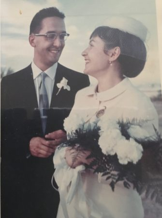Svoboda and Demartini at their wedding.