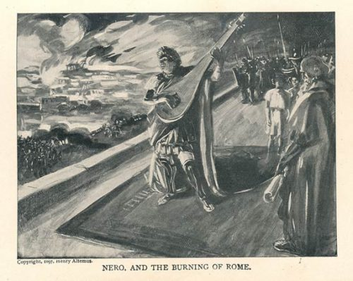"""Nero and the Burning of Rome,"" by Henry Altemus (1897)"