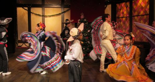 """In the whirl at """"Posada Milagro."""" Milagro Theatre photo."""