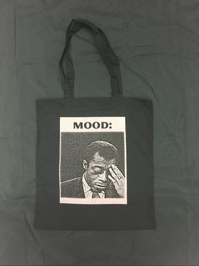 """Dis Tew Much To Carry"" tote bag by Melanie Stevens"