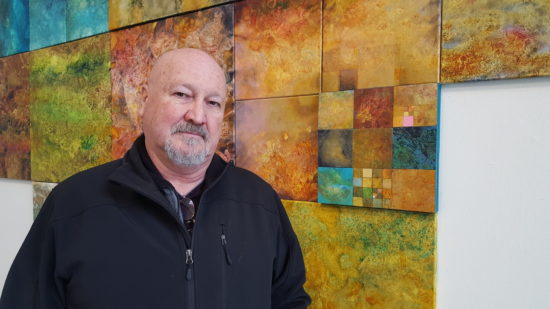 Printmaker and muralist Ron Mills-Pinyas teaches art and visual culture at Linfield College in McMinnville. He splits his time between Oregon and Spain, where he is represented in Barcelona and Amsterdam by Villa del Arte Galleries. Photo by: David Bates
